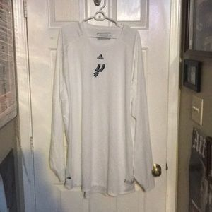 Spurs 4XL Adidas White  NBA Fusion Long Sleeve